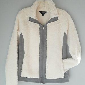 FILA Sport Soft Fleece Zip Front Jacket Size M NWT
